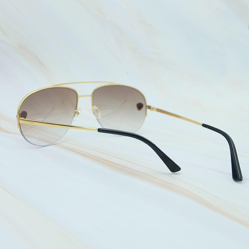 Metal Frame Luxury Carter Leopard Serious Mens Sunglasses Outdoor Driving Shades Leisure Brand Designer Sun Glass (6)