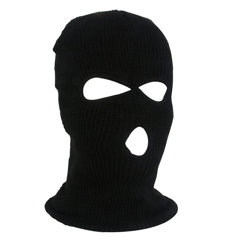 Full Face Mask Ski Mask Winter facemask Cap Balaclava Hood Army Tactical Mask 3 Hole cycling winter mask #4n26 (5)