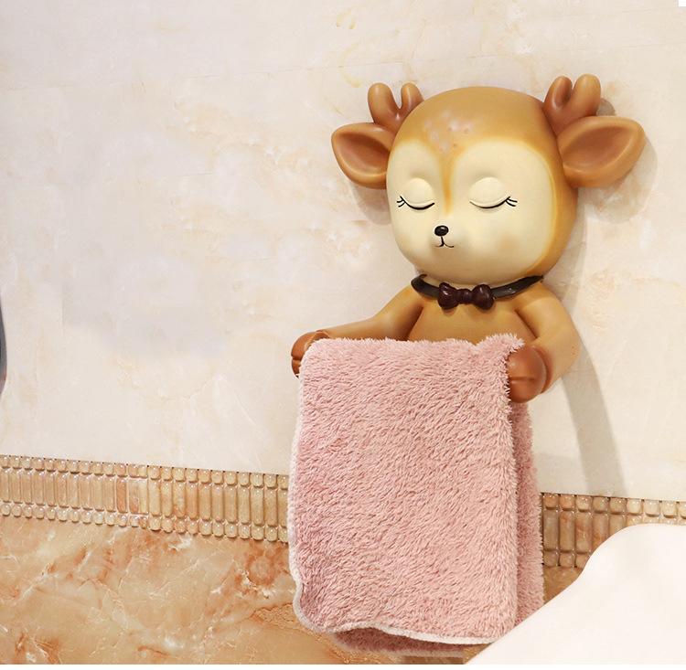 Montage-porte-papier-hygi-nique-mignon-Sika-cerf-salle-de-bains-cuisine-rouleau-papier-accessoire-serviette