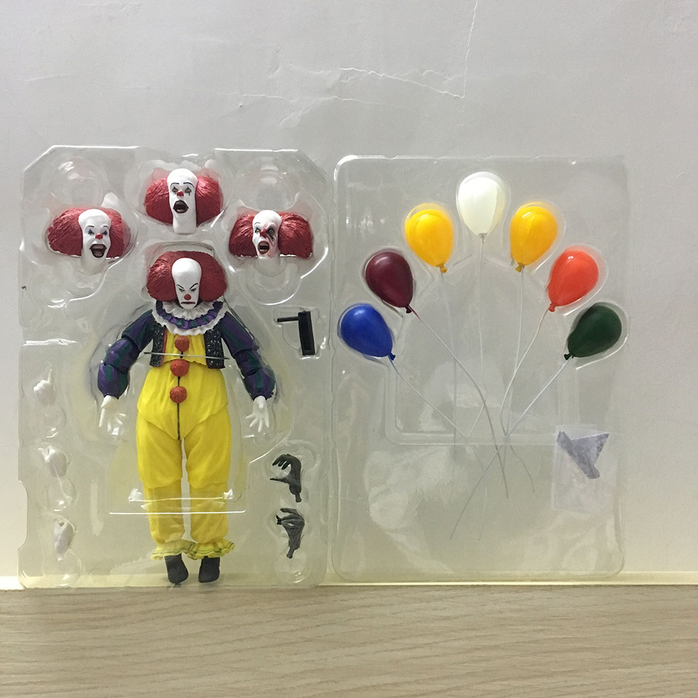 Horror Movie It Character NECA Joker With Balloons Pennywise Action Figure Model Toy for Christmas Halloween Gifts (0001)