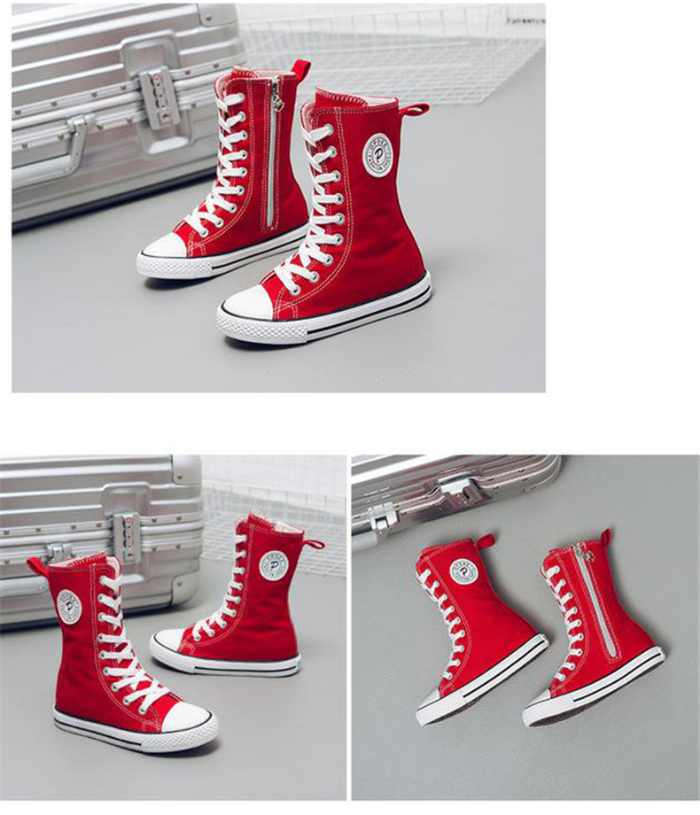 PINSEN 2019 Spring Autumn Shoes Girls Boots Cancas Childen Shoes For Girl Breathable Kids Boots For Girls Fashion Boots (15)