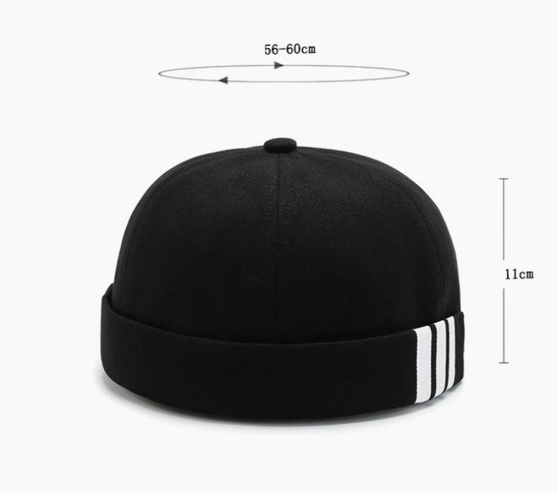 New Men Summer Cotton Brimless Cap Vintage Unique Street Portable Docker Hats Multi purpose Hat Skull Caps