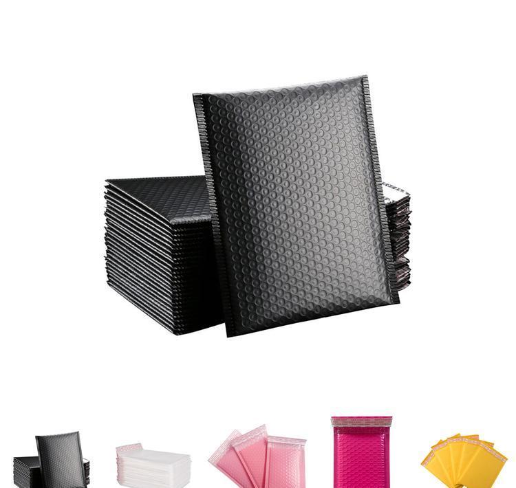 con forro de burbujas sobres acolchados de 10,2 x 17,7 cm Switory 50 sobres de burbujas de polietileno de 10,2 x 17,7 cm embalaje y env/ío para env/ío color negro