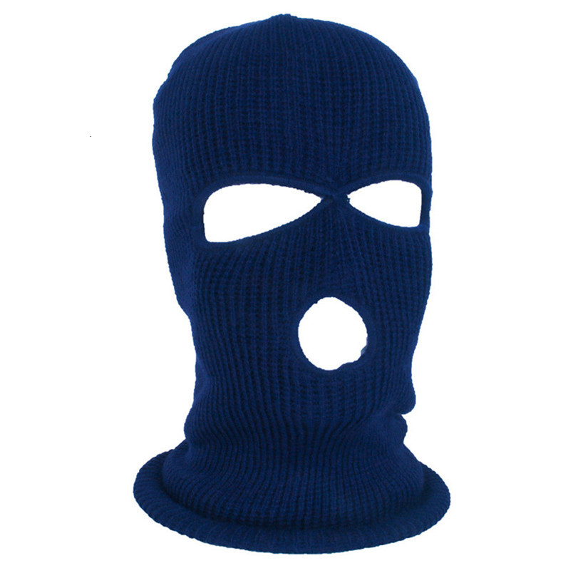 Full Face Mask Ski Mask Winter facemask Cap Balaclava Hood Army Tactical Mask 3 Hole cycling winter mask #4n26 (1)