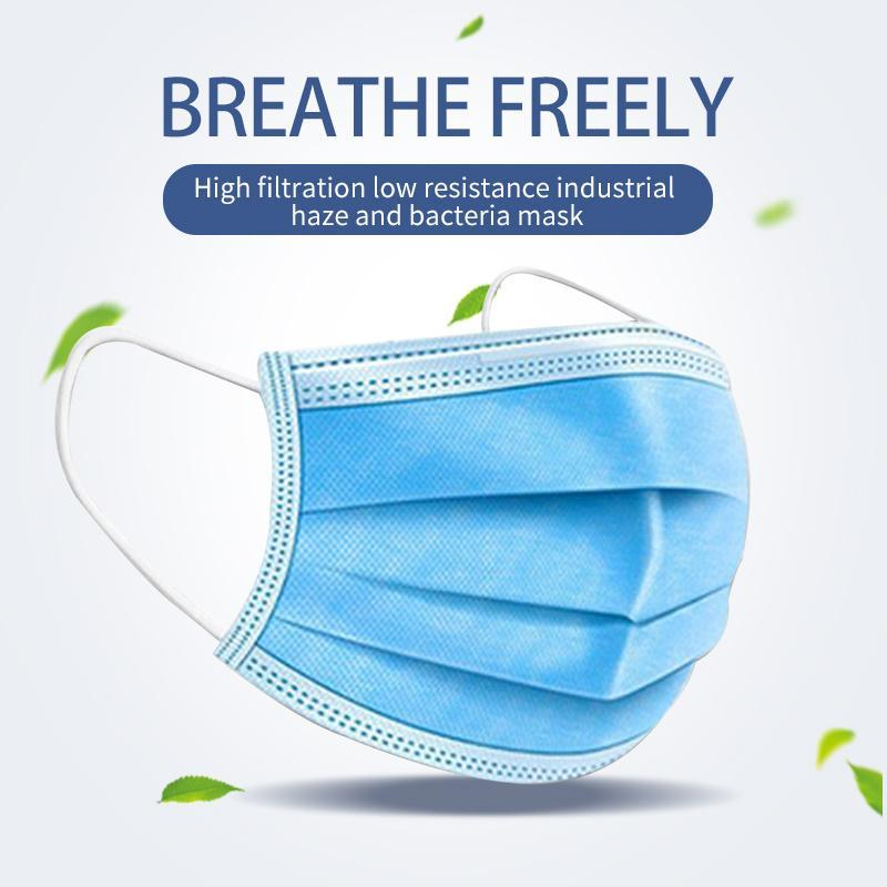 Disposable Mask Protection and Personal Health Mask Three Layer Mask with Ear Hanging