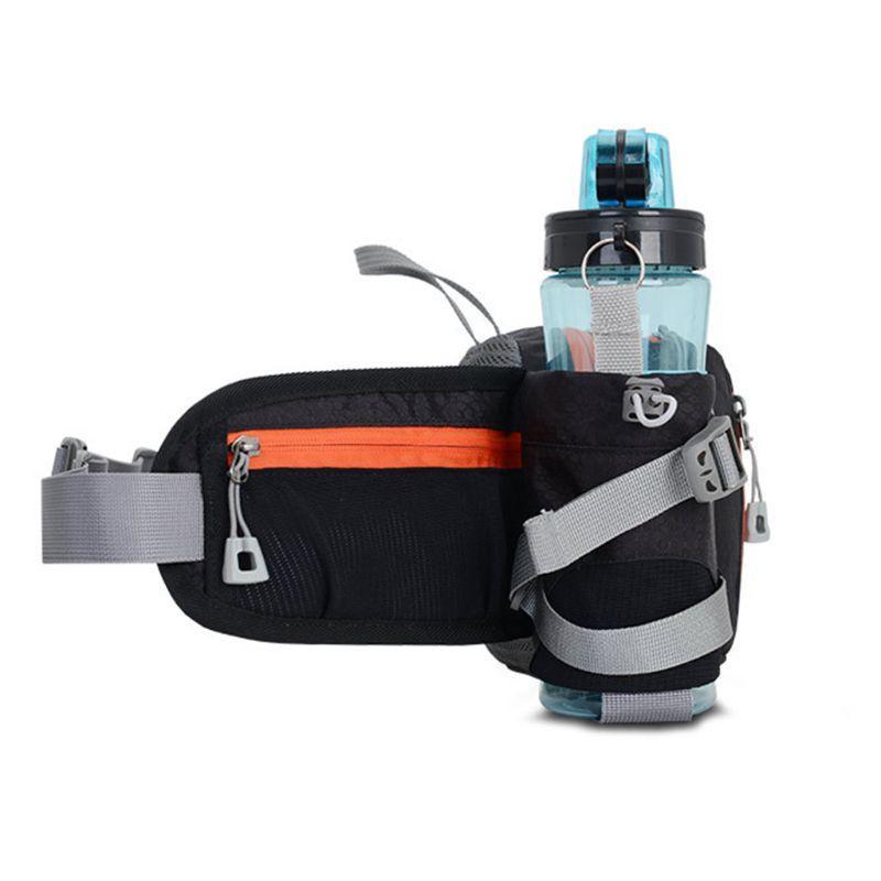 Bum Waist Belt Bag Pockets Running Bottle Phone Key Holder Travel Jogging Sports