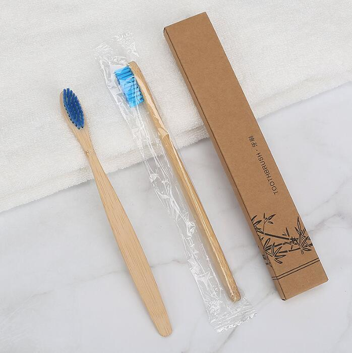 High Quality Bamboo Toothbrush Soft Nylon Capitellum Toothbrush With Box Packaging Oral Hygiene Whitening Toothbrushes Hotel Use