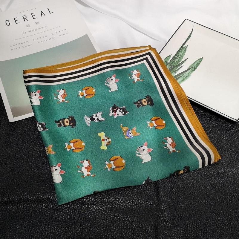 2019-Luxury-Women-Silk-Scarf-For-Hair-Fashion-Kerchief-Cartoon-Print-Bag-Scarfs-Female-53-53cm (2)