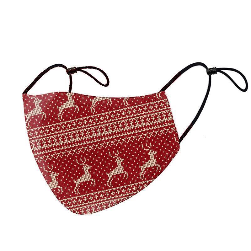 Christmas designer face mask washable cartoon cotton face mask foreign trade Santa Claus mask fashion adult facemask