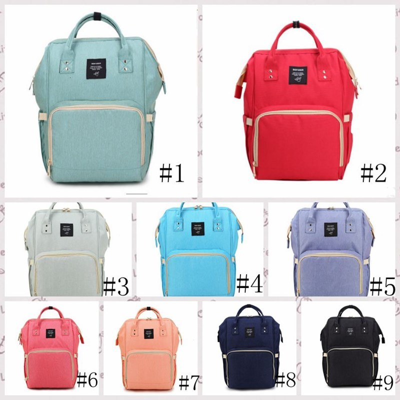 Baby Diaper Backpacks Waterproof Newborn Diaper Bags Large Travel Maternity Backpack Nappy Nursing Handbag 6 Designs Wholesale WY772