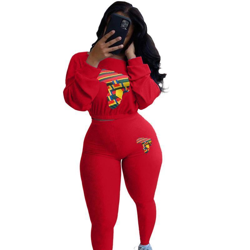 Womens outfits long sleeve set tracksuit jogging sportsuit shirt leggings outfits sweatshirt pants sport suit hot selling klw5370
