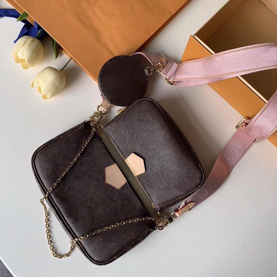 2020 New Fashion M44823 Top quality designer pack Genuine leather women shoulder bag Classic letter crossbody bag Free Shipin