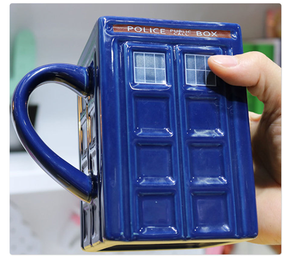 Doctor Who Tardis Police Box Ceramic Mug Cup With Lid Cover For Tea Coffee Mug Funny Creative Gift Christmas Presents Kid Men (8)