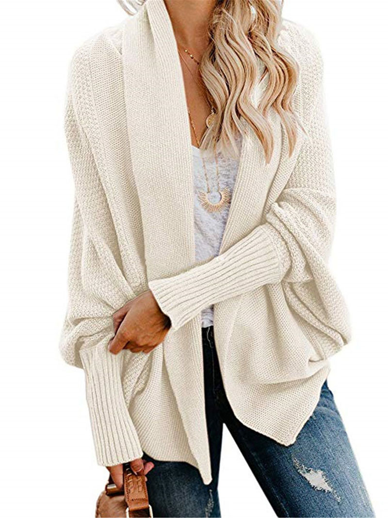 2019 winter new women sweaters casual plus size batwing sleeve kintted winter women cardigan ladies tops clothing coat (24)