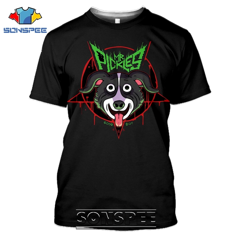 SONSPEE 3D Print Mr Pickles T-shirts Men Women Casual Harajuku Short Sleeve Streetwear Hip Hop Anime Satan Evil Tees Tops Shirt (13)