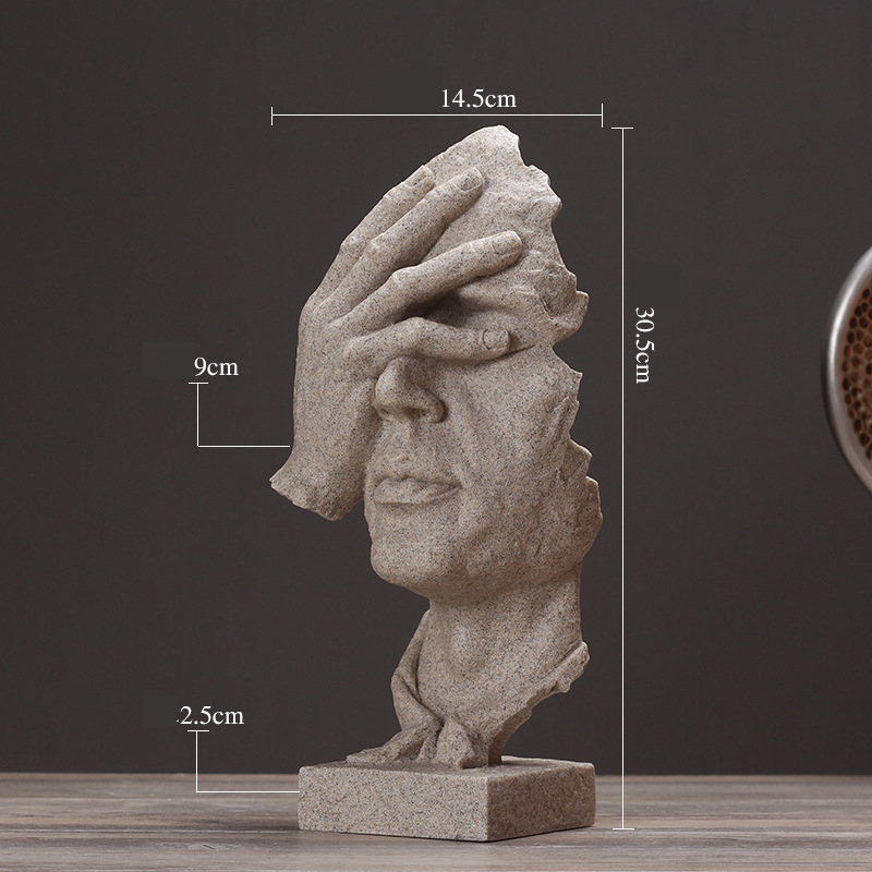 Resin Silence Figurines (6)
