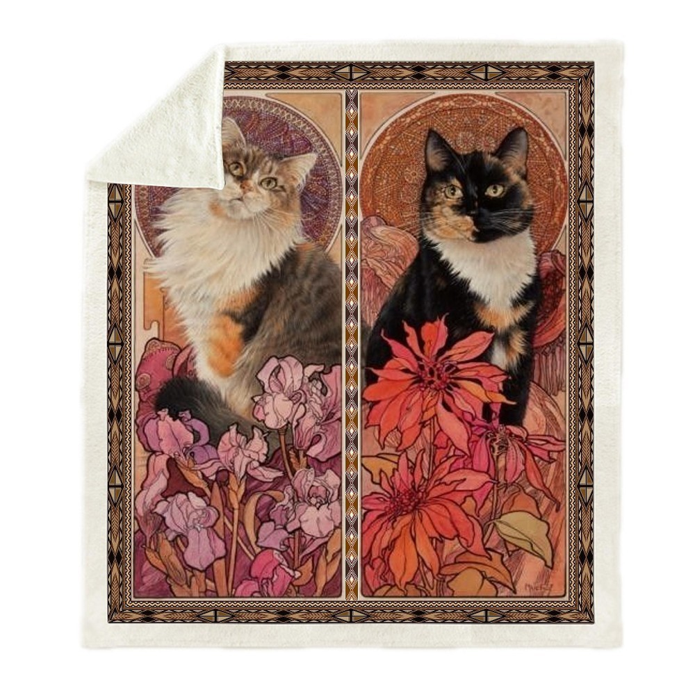 Sofa-Cushion-Yoga-Mat-Blanket-Picnic-Blanket-Thick-Double-layer-Plush-Anime-Cat-3d-Print-Carry (3)