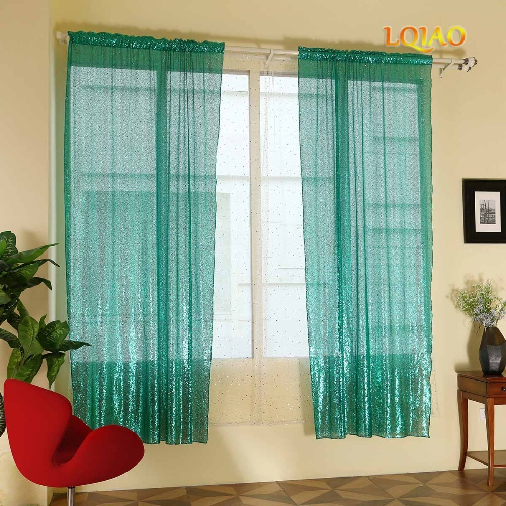 Green Sequin Curtain 001