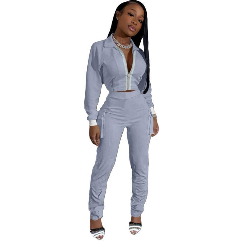womens hoodie legging two piece set outfits long sleeve tracksuit jacket pants sportswear panelled outerwear tights sports set hot klw4993
