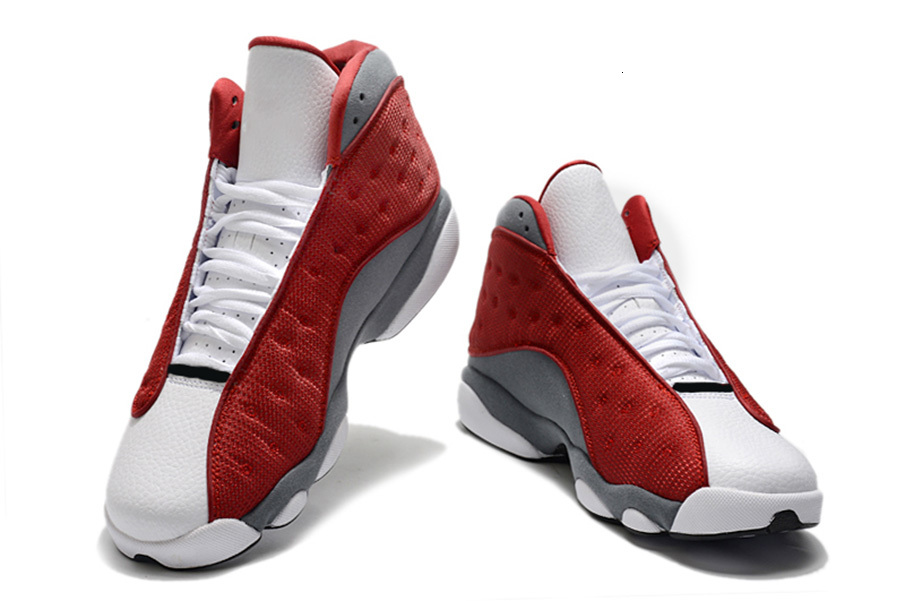 13 PE Red Flint Gym Red Flint Grey Men Shoes 13s XIII Dark Powder Blue White Sports shoes Trainer Sneaker