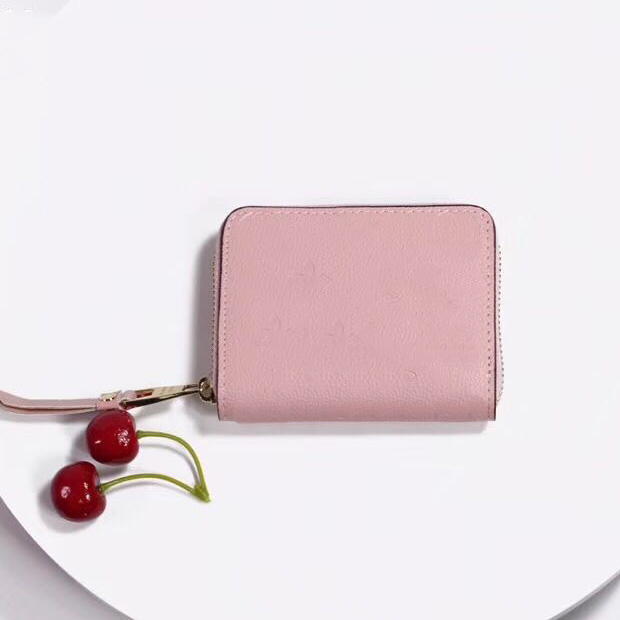 Leather short wallet for women fashion leather long wallet lady purse money bag zipper pouch coin purse pocket note clutch Victorine