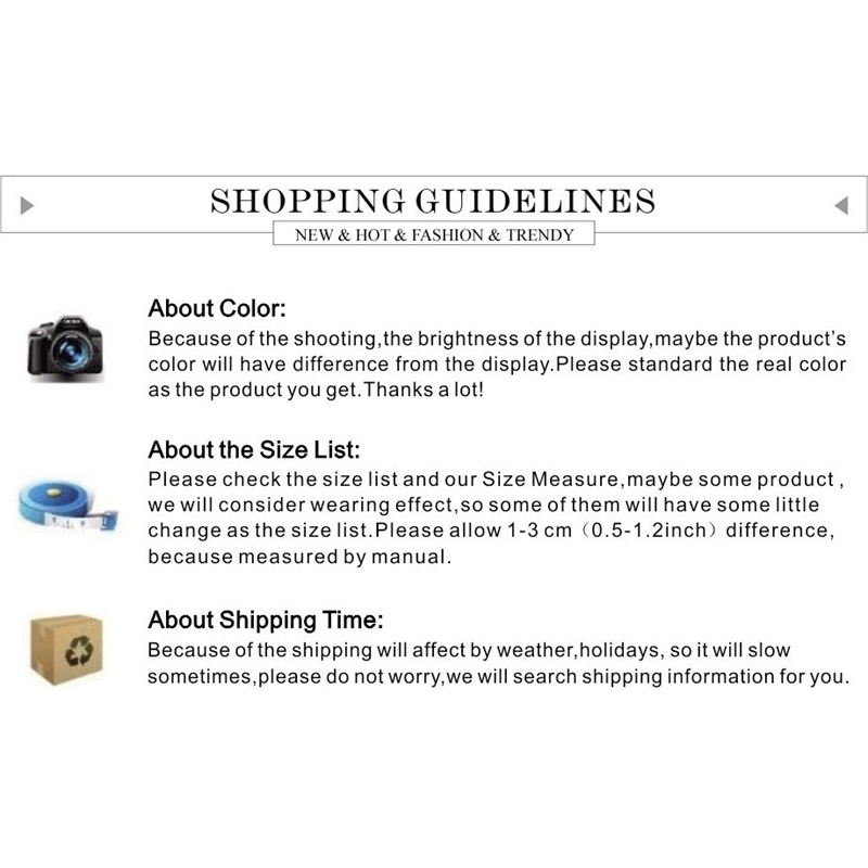 shopping guildline