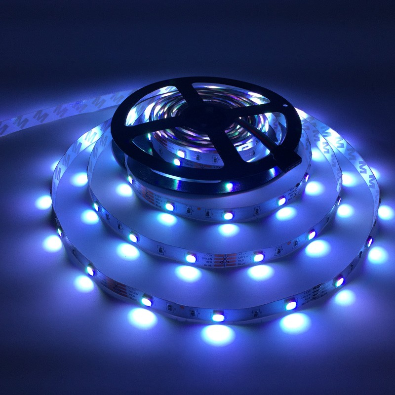SMD 5050 RGB LED strip light non waterproof 5M 150leds fita de led tape set+RGB IR Remote Controller+DC 12V 3A 36W Power Adapter (44)