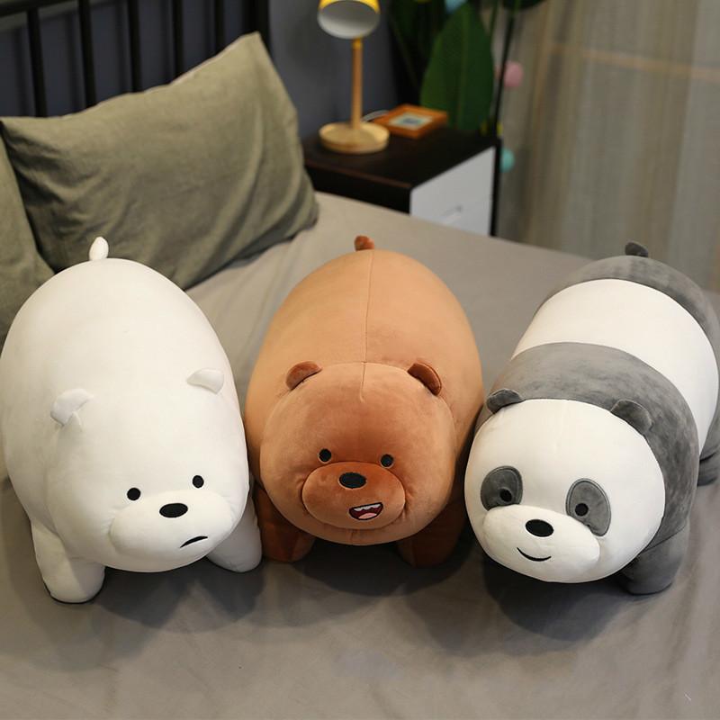Stand Bare Bear Plush Toys Children Stuffed Animals Cartoon Figure Plush Doll Pillow Soft Cute Plush Stuff Birthday Gift Kids LJ201126