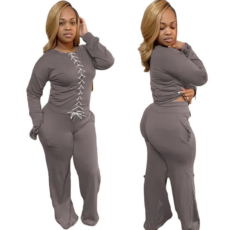 Womens outfits long sleeve set tracksuit jogging sportsuit shirt leggings outfits sweatshirt pants sport suit hot selling klw5282