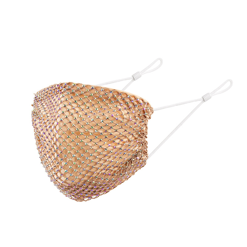 DHL Shipping Grid Crystal Diamond Mask Ladies Fashion Rhinestone Party Masks Dust-Proof Anti-Fog Breathable Reusable Face Masks Kimter-B263F