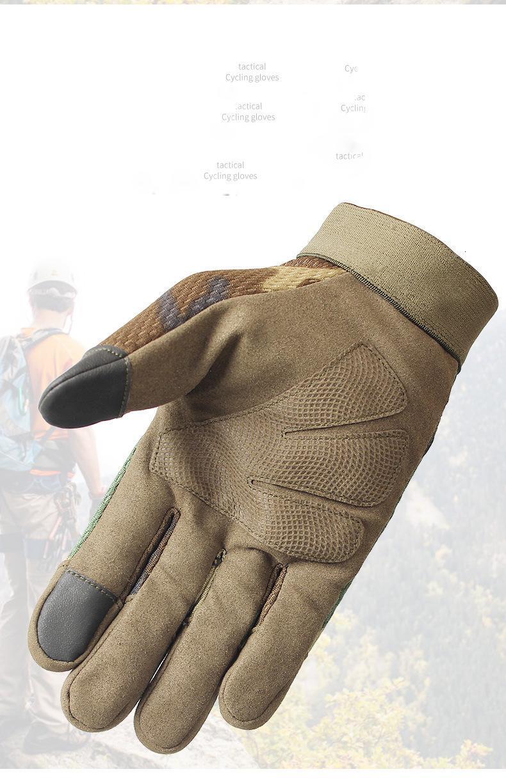 cycling gloves protective tactical gear running ski windproof full finger ergonomic anti-slip warm outdoor CS treking sports bike unisex