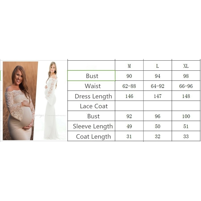 Fancy Lace Coat Maternity Dresses Photography Props Sexy Maternity Clothes Maxi Gown For Photo Shoots Women Pregnancy Dress M-XL