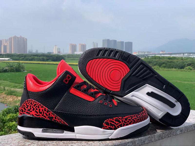 JTH 3 III NRG Tinker Hatfield Black Red Cement Men Sneaker Hot Sale 3s men Athletic Sports shoes size 8-13