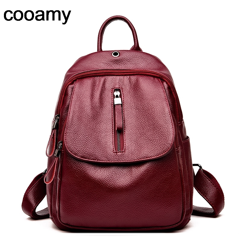 Female backpack mochila feminina casual Multifunction Women Leather Backpack Shoulder School Bag Sac A Dos Travel Back Pack
