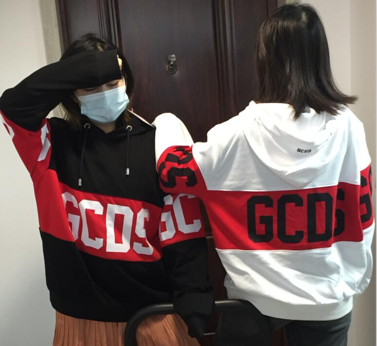 Outlet Sweat gcds Sleeve knitting Thickened GCDS Letter Sweater Fashion Dropshippng