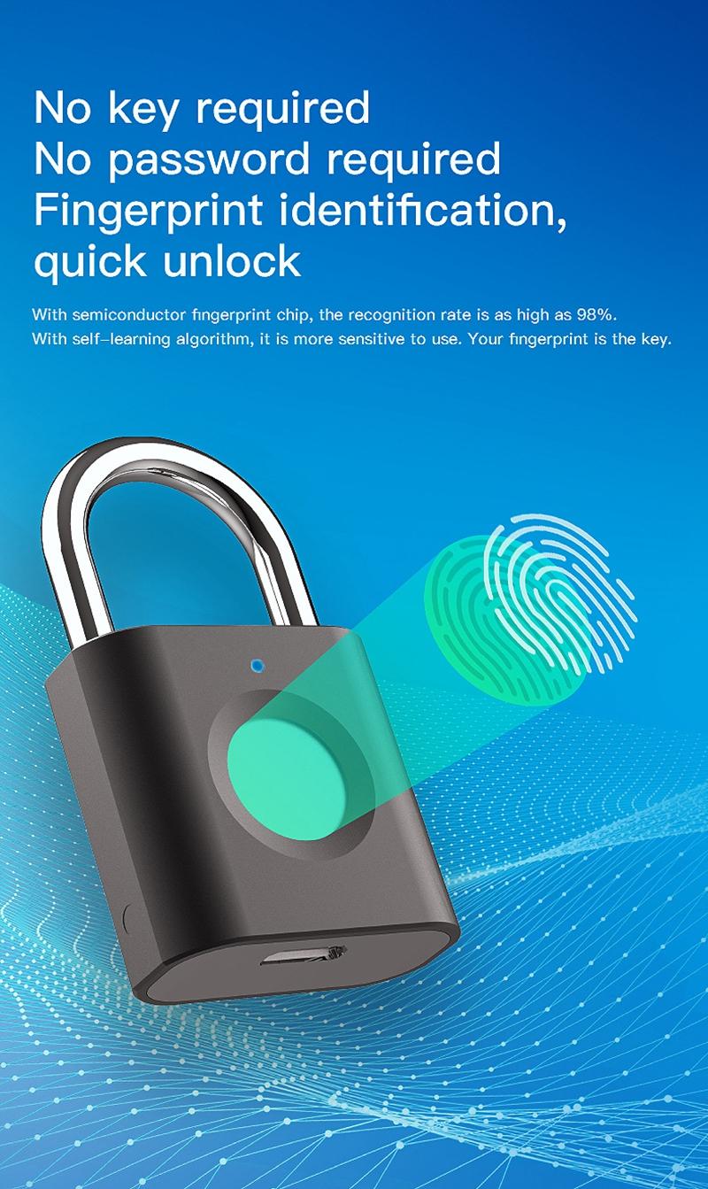 Smart Fingerprint Padlock 7