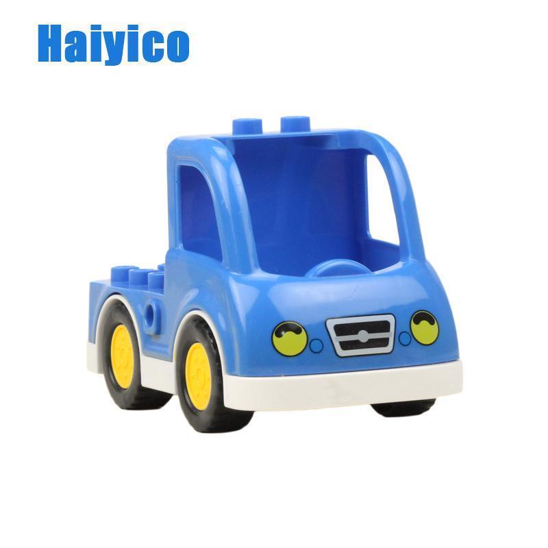 Vehicle Model Education Big Building Blocks Accessories Compatible With Duplo Car Aircraft Policemen Transportation Child Toys qylZav