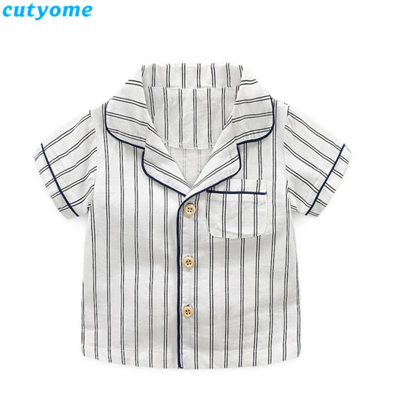 korean fashion toddler kids striped pajamas set10