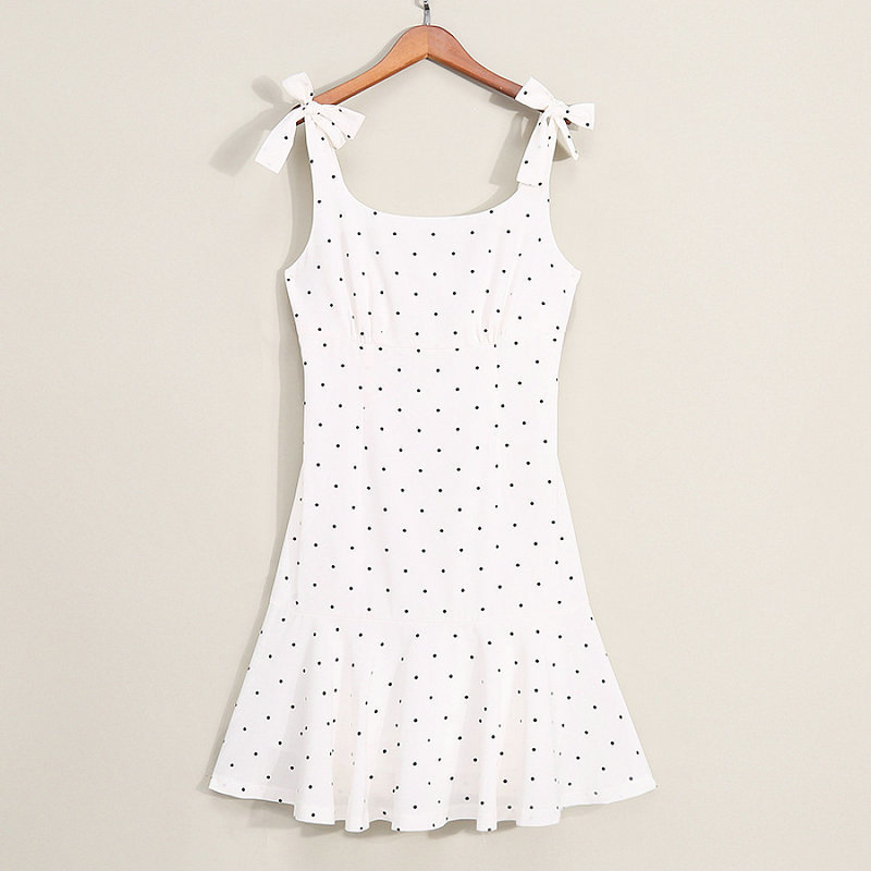 Family Look Matching Clothing Cotton Sleeveless Dot Women Girls Dress Mother Daughter Dress Mom And Daughter Dresses Clothes (3)
