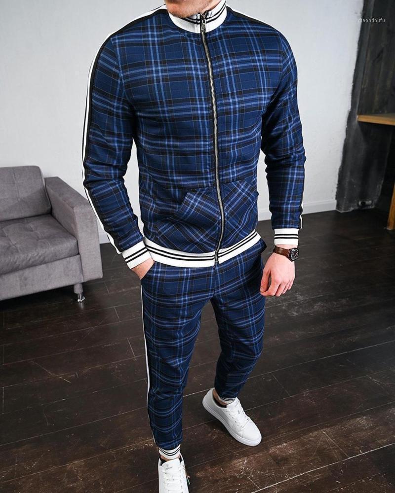 2021 New Men's Autumn Gentlemen Tracksuit Set Jackets Sets Tracksuit Men Sportswear Male Suit Pullover Two Piece Set Casual Sets1