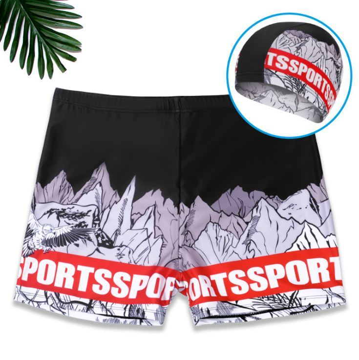 New men Swim Trunks mens Slim Fit Swim Boxer Shorts creative design Surfing Trunks Maillot De Bain bathing suit Fashion