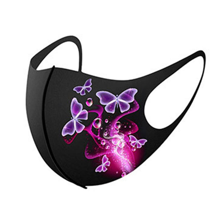 designer mask Christmas face mask designer Ice silk print butterfly fashion mouth mask dustproof sunscreen men women classic black facemask