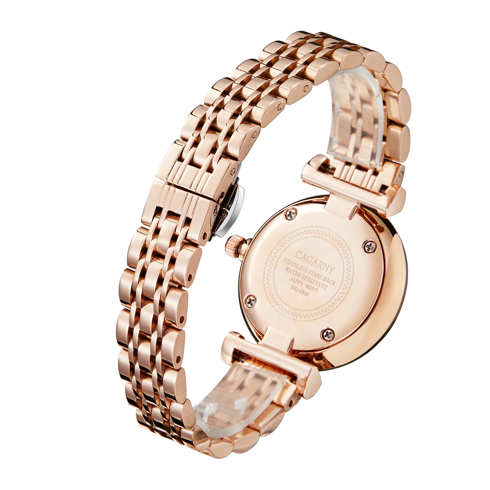 drop shipping shopify rose gold stainless steel bracelet watch for women fashion ladies quartz watches shinning diamonds female clock waterproof free shipping best gifts (2)