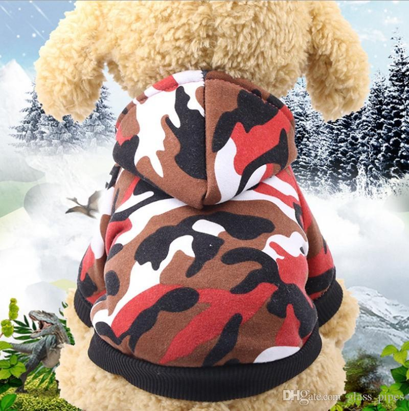 Dog Clothes Camouflage Puppy Hoodie Coat Soft Pet Dog Jackets Winter Small Dog Outerwears Dogs Sweatshirt Pet Supplies 6 Designs YW1512