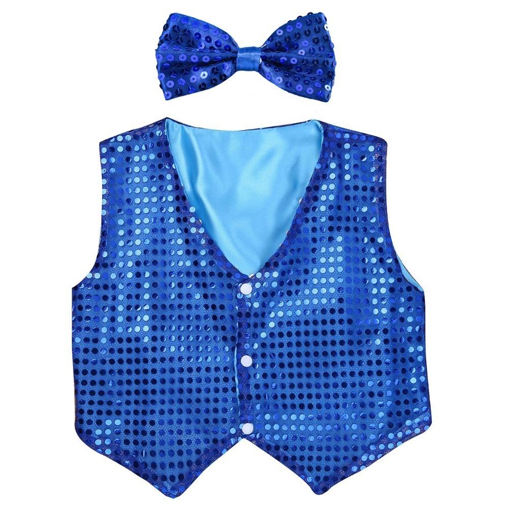 blue sequins vest (1)