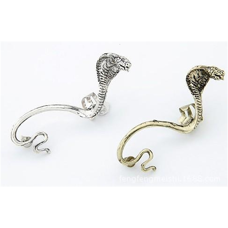 Punk Vintage Snake Ear Cuffs Gothic Antique Silver/Gold Piercing Ear Clips Ear StudsWomens Fashion Earrings