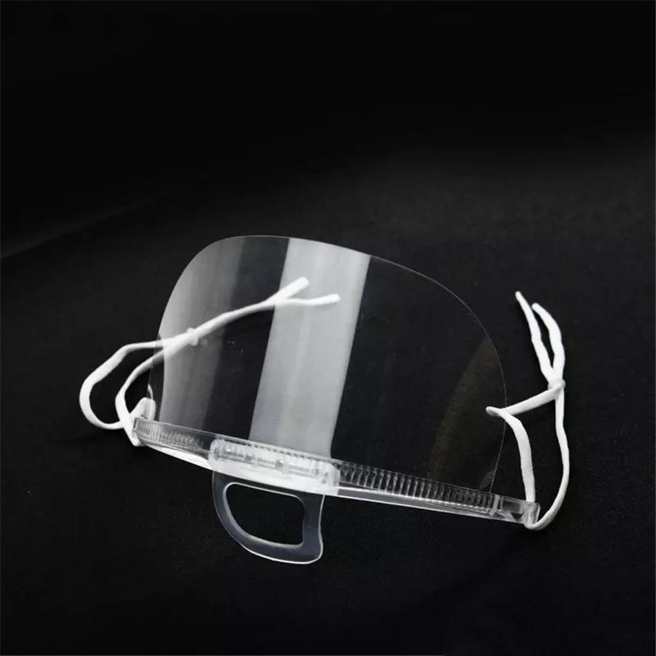 DHL Ship Clear Transparent Face Shield Masks Permanent Anti Fog Catering Food Hotel Plastic Kitchen Restaurant Masks FY8086
