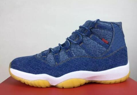 11 Denim Blue Jeans Travis Basketball Shoes Men 11s xi Denim LS Blue Jeans XI Prom night Gym red space jam Real carbon fiber Sports Shoes
