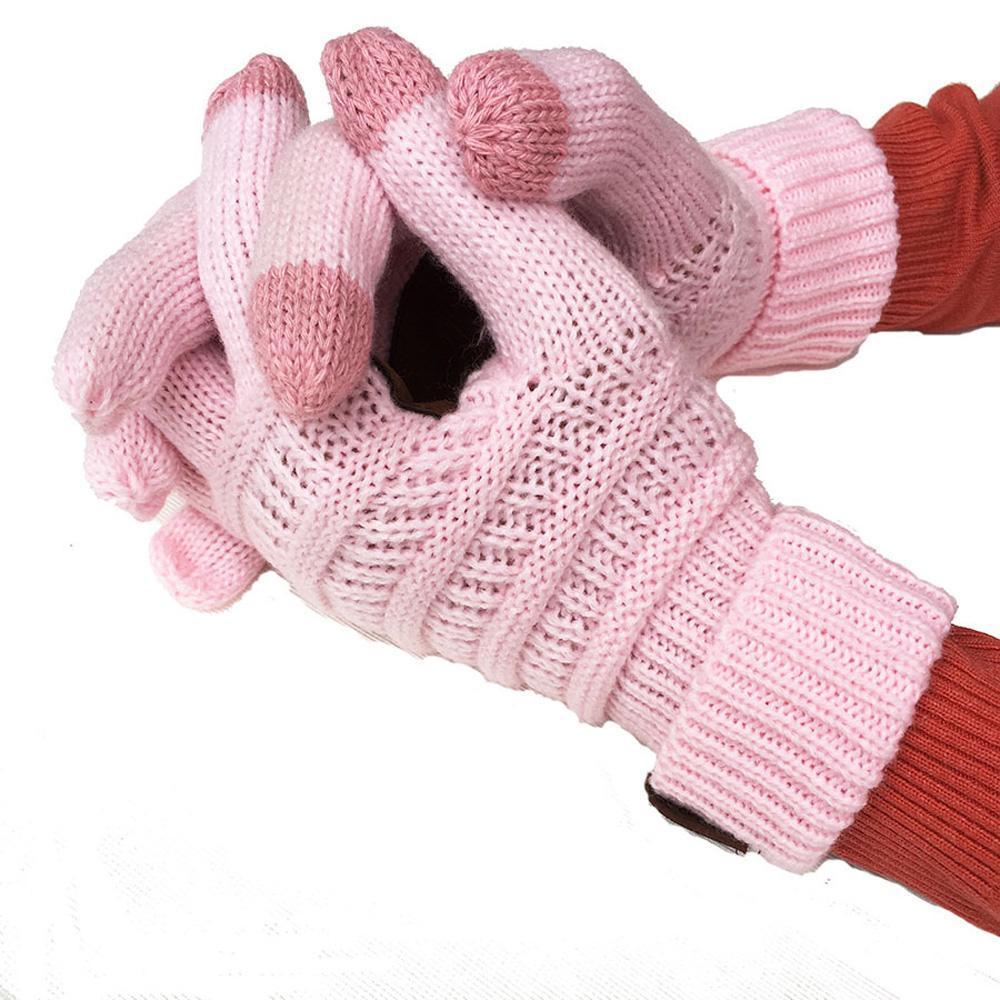 2020 Winter Unisex Touch Screen Gloves Texting Smartphone phone Winter Knit Black ladies mens Touch gloves Magic mittensThicken Gloves
