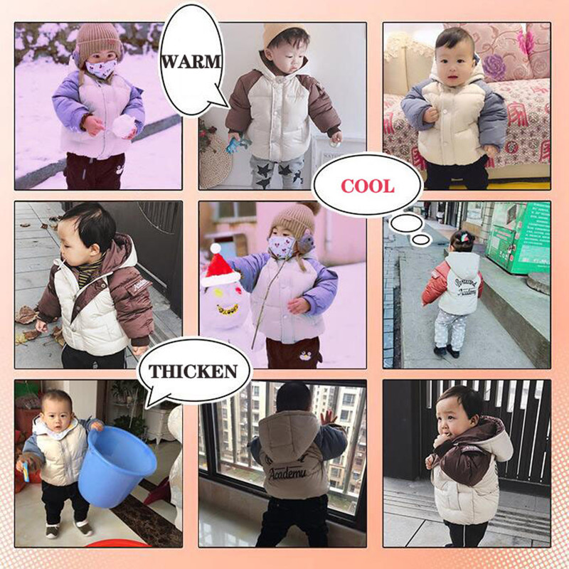 2020 Winter Boys Jackets Kids Hooded Outerwear Autumn Baby Boy Warm Jacket Children Clothing Baby Girls Outerwear Coat Jacket (4)